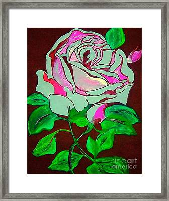 The Pink Rose Abstract Framed Print
