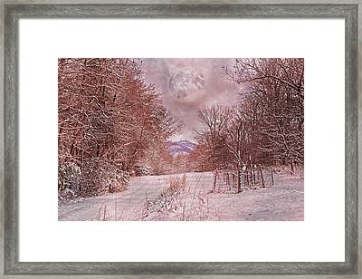 The Pink Snow Evening Framed Print by Betsy Knapp