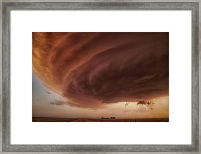 The Pink Storm Framed Print
