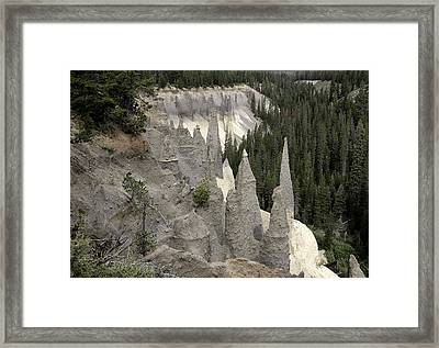 The Pinnacles At Crater Lake Framed Print