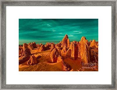 The Pinnacles Desert Framed Print by Julian Cook