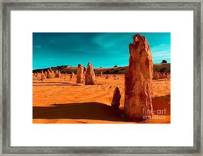 The Pinnacles Framed Print