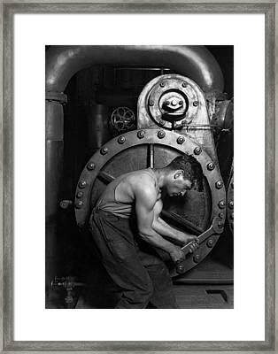 The Pipefitter - 1920 Framed Print