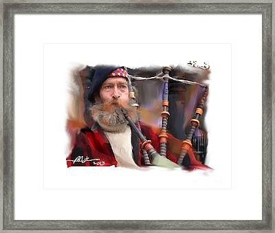 The Piper Framed Print by Bob Salo