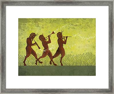 The Pipers 3 Framed Print
