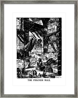 The Piranesi Mall Framed Print