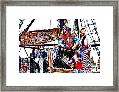 The Pirate Of Penzance And His Wife Framed Print