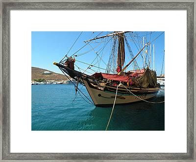 The Pirate Ship  Framed Print by Micki Findlay