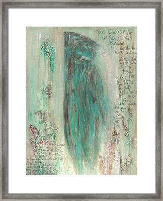 The Pistis Sophia Veiled Framed Print by Talvi Winter