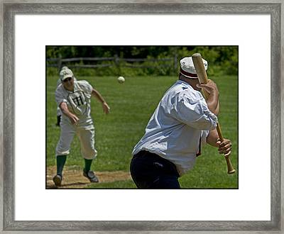 The Pitch Framed Print by Alida Thorpe