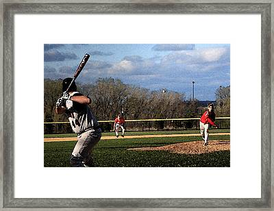 The Pitch With Watercolor Effect Framed Print by Frank Romeo