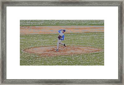 The Pitcher Digital Art Framed Print by Thomas Woolworth