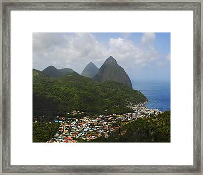 The Pitons And Soufriere Framed Print