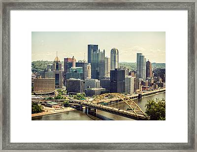 The Pittsburgh Skyline Framed Print by Lisa Russo