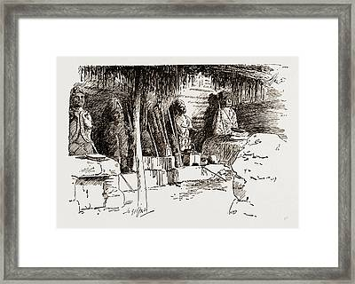 The Place Where Cannibal Rites And Human Sacrifices Framed Print by Litz Collection