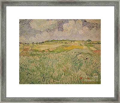 The Plain At Auvers Framed Print by Vincent Van Gogh