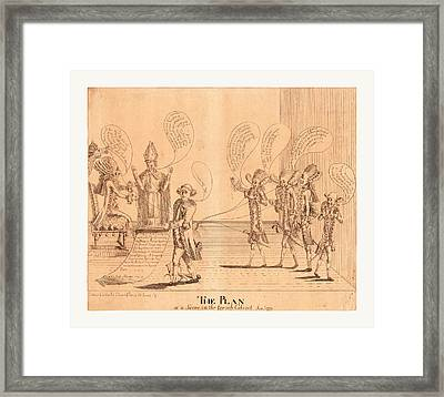 The Plan, Or A Scene In The French Cabinet Framed Print by English School