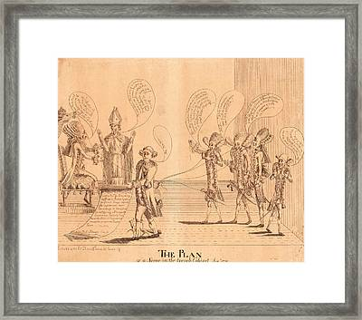 The Plan, Or A Scene In The French Cabinet Framed Print by Litz Collection