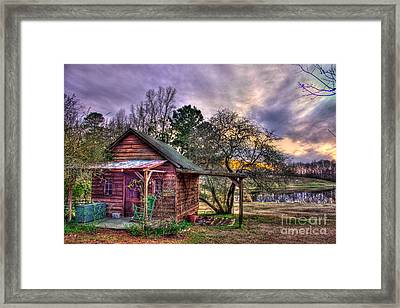 The Play House At Sunset Near Lake Oconee. Framed Print