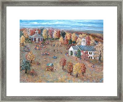 The Playground At Deep Run Framed Print by Pamela Parsons