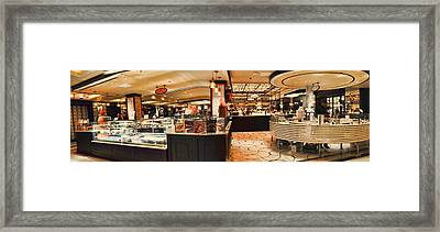The Plaza Food Hall Framed Print by Paulette B Wright