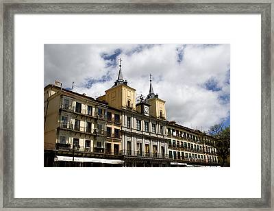 The Plaza Mayor Segovia Framed Print by Lorraine Devon Wilke
