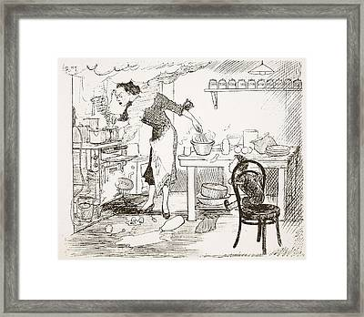 The Please, Mother, Will You Tell Framed Print