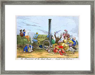 The Pleasures Of The Rail Road Framed Print