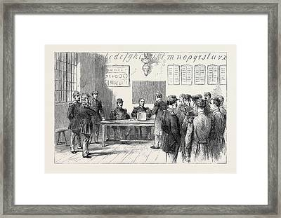 The Plebiscitum. Soldiers Voting Framed Print by English School