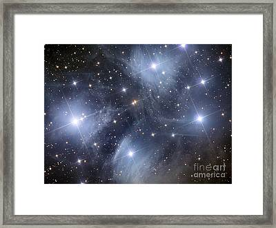 The Pleiades, An Open Cluster Of Stars Framed Print by Reinhold Wittich