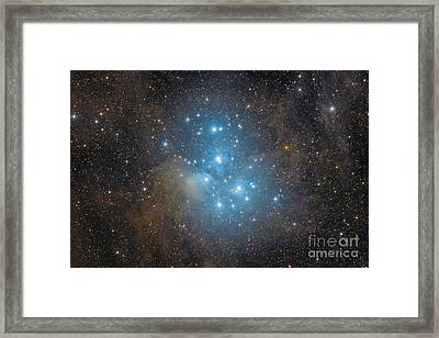 The Pleiades, An Open Star Cluster Framed Print by Roberto Colombari