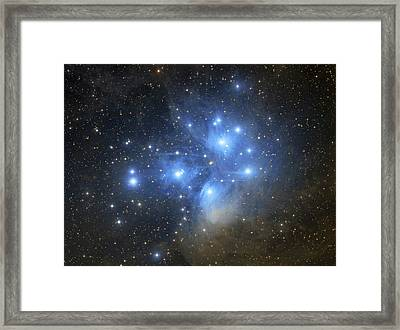 The Pleiades Open Star Cluster Framed Print by Lorand Fenyes
