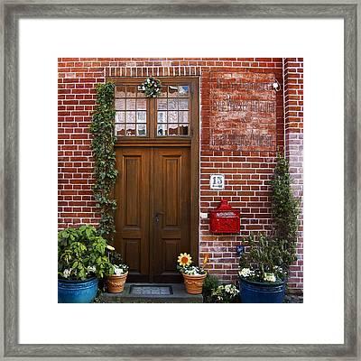 The Plumber's Home Framed Print