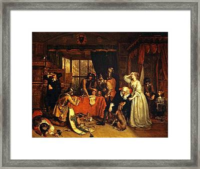 The Plundering Of Basing House Framed Print by Celestial Images