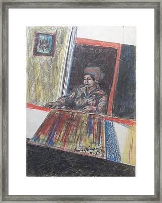 The Poetess Zelda Framed Print by Esther Newman-Cohen