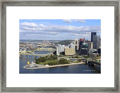 The Point At Pittsburgh Framed Print