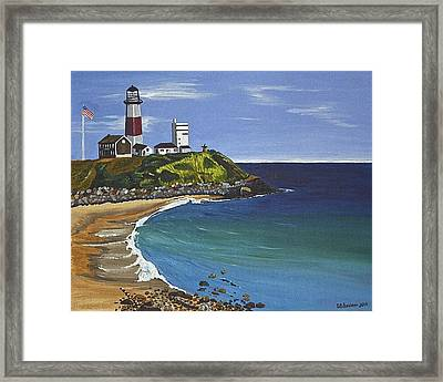 The Point Framed Print by Donna Blossom