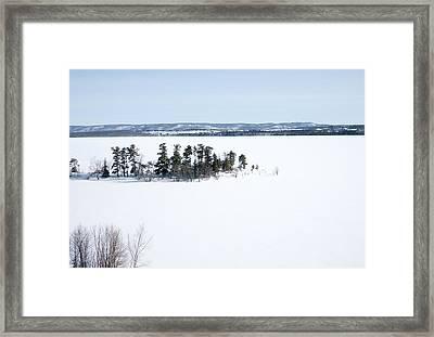 The Point In Winter Pinheys Point Ontario Framed Print