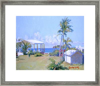 The Point Morning Light Framed Print by Candace Lovely