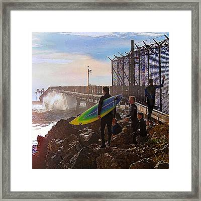 The Point Of No Return Framed Print by Ron Regalado