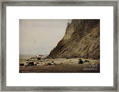 The Point Wilson Light Framed Print by Elena Nosyreva