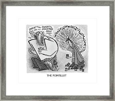 The Pointillist Framed Print by Arnold Roth