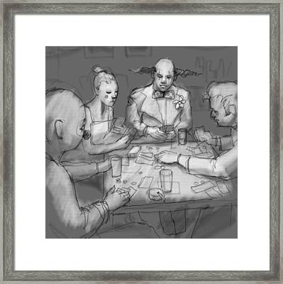 The Poker Game Framed Print