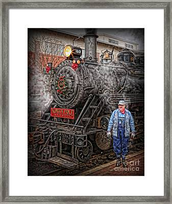 The Polar Express - Steam Locomotive Vi Framed Print by Lee Dos Santos