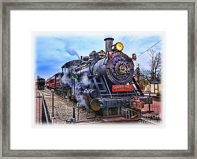 The Polar Express - Steam Locomotive II Framed Print by Lee Dos Santos