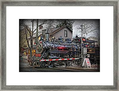 The Polar Express - Steam Locomotive IIi Framed Print by Lee Dos Santos