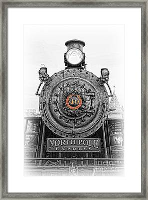 The Polar Express - Steam Locomotive Iv Framed Print