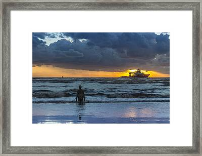 The Polar King From Crosby Beach Framed Print by Paul Madden