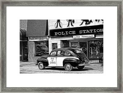 The Police Car Framed Print by Bob Pardue