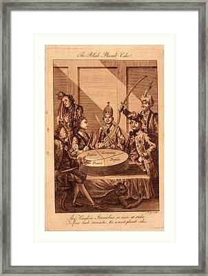The Polish Plumb-cake, Lodge, John, -1796, Engraving 1774 Framed Print by Litz Collection